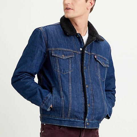 Levi's Sherpa Trucker Jacket - Evening Dark Wash