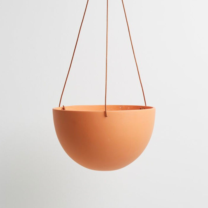 Capra Designs Block Color Dome Hanging Planter - Desert