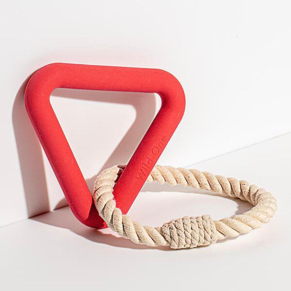 Wild One Triangle Tug Toy - Red