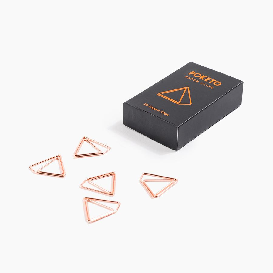 Poketo Shape Paper Clips - Copper Pyramid