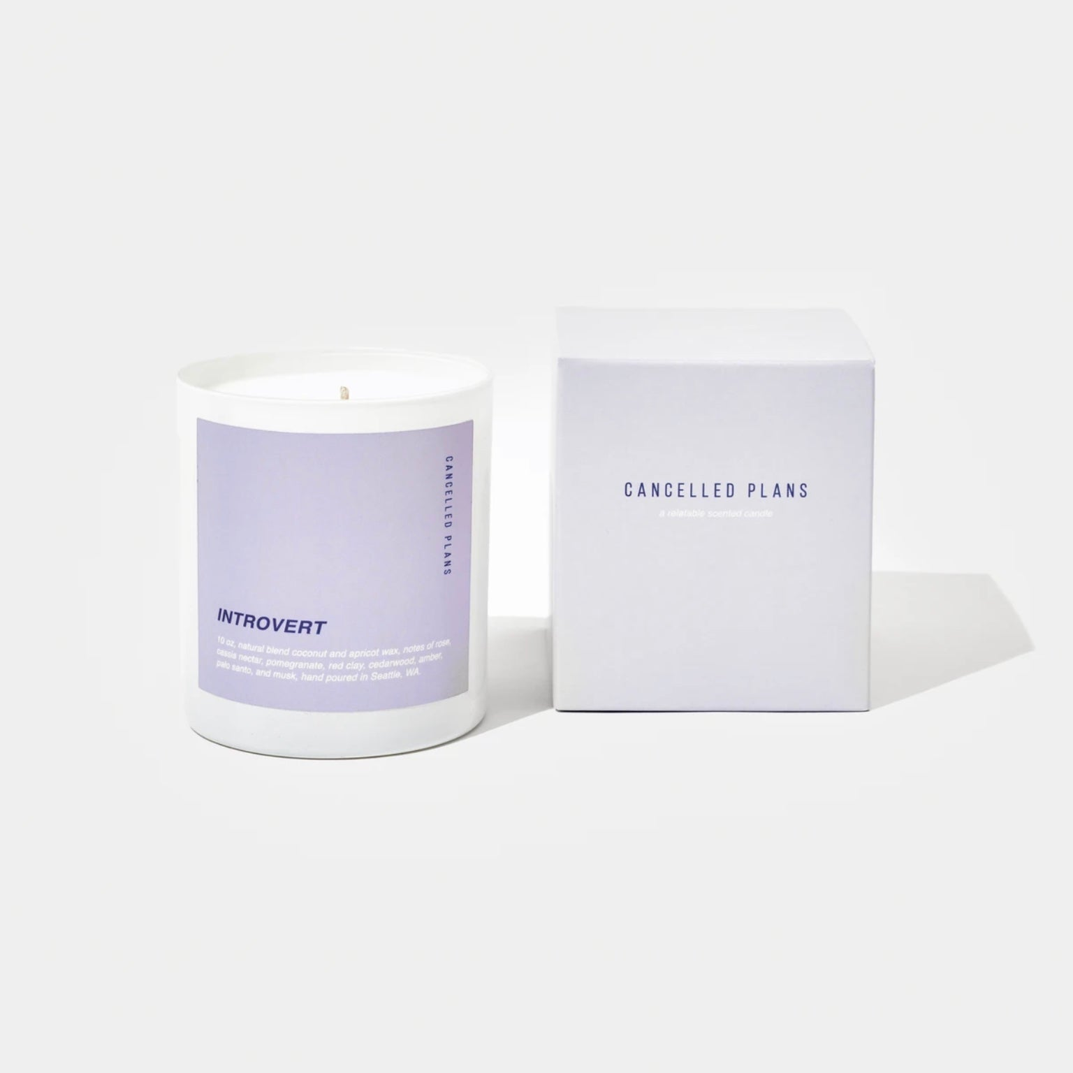 Cancelled Plans Candles - Introvert