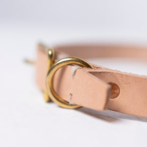 Billy Wolf | Billy Wolf Leather Collar - Natural | Home & Gift - Pet Supplies | Phoenix General Store