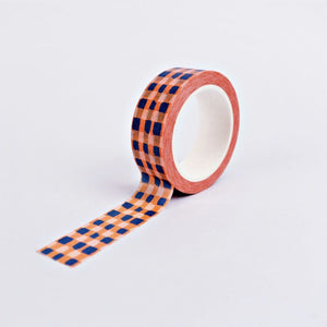 The Completist Washi Tape - Orange Check