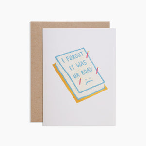 Poketo | Poketo Greeting Card - Forgot Your Birthday | Gift - Greeting Cards | Phoenix General Store