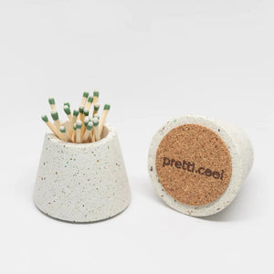 Pretti.Cool | Pretti.Cool Matchstick Holder - Marigold Terrazzo | Home Decor - Ceramics | Phoenix General Store