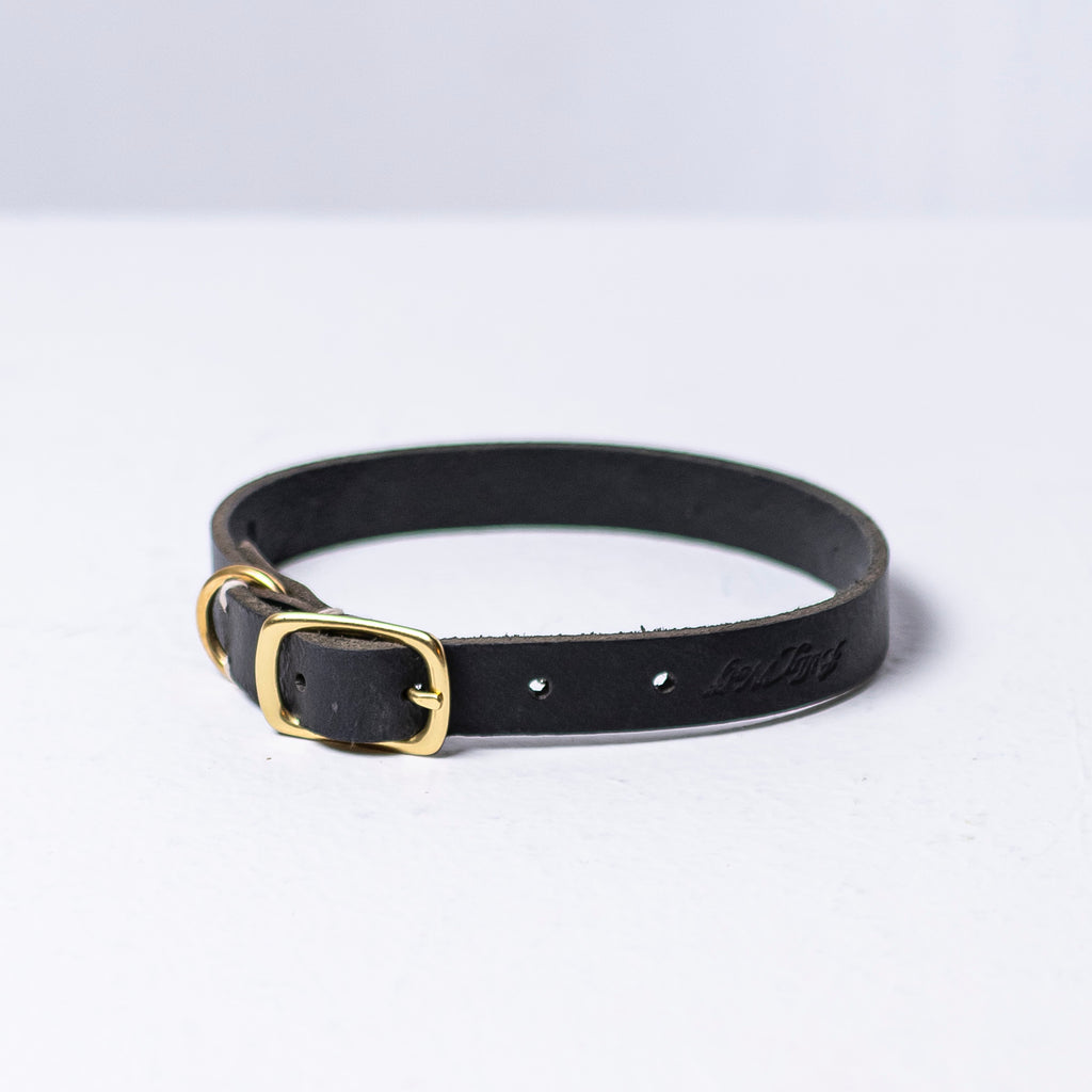 Billy Wolf Leather Collar - Black - Phoenix General