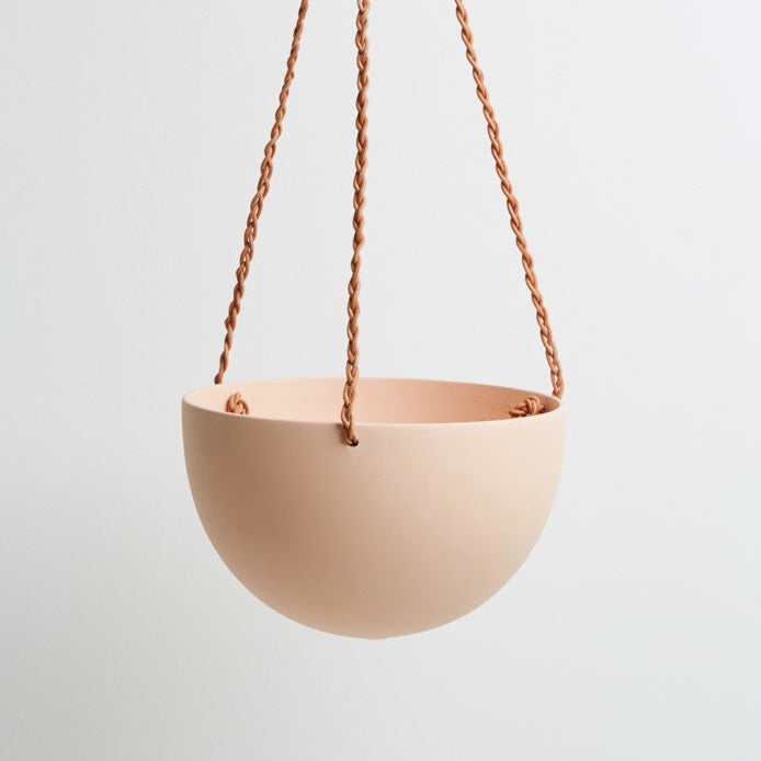 Capra Designs Block Color Dome Hanging Planter - Salt