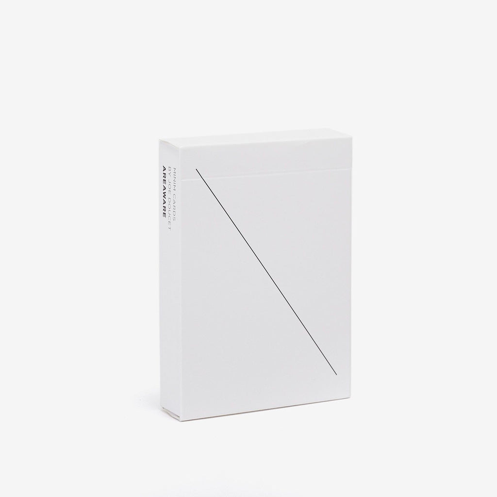 Areaware | Areaware Minim Cards - White | Gift - Playing Cards | Phoenix General Store