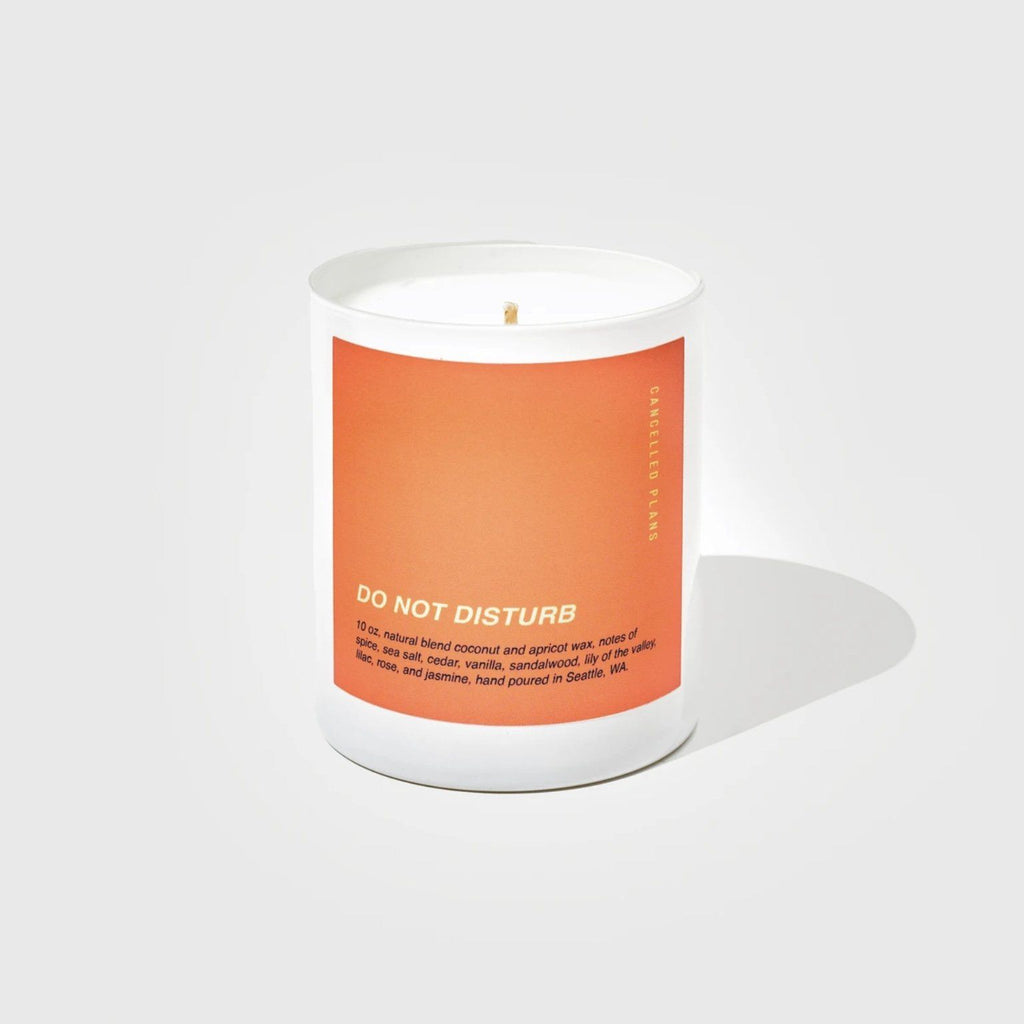 Cancelled Plans Candles - Do Not Disturb