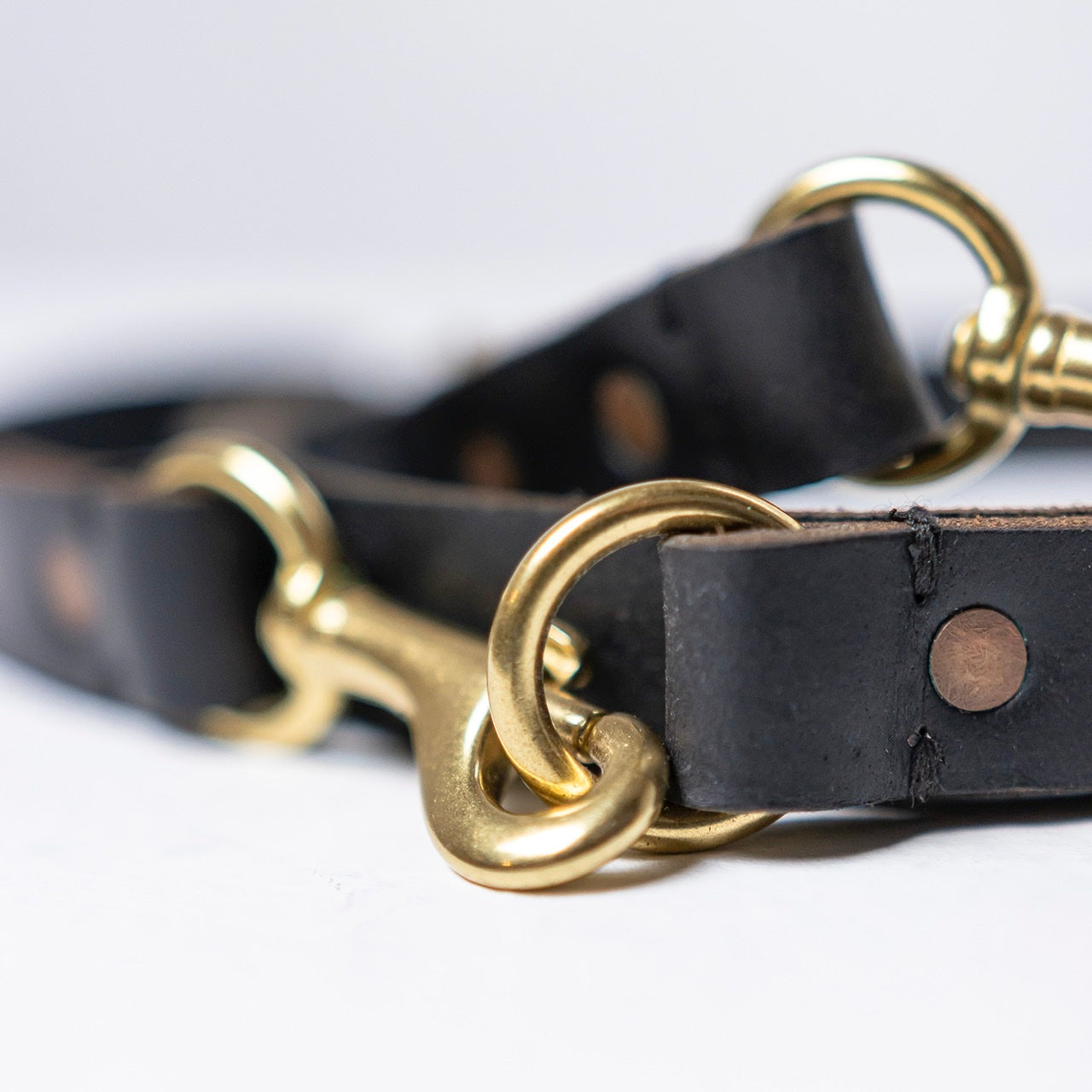 Billy Wolf Leather Leash - Black