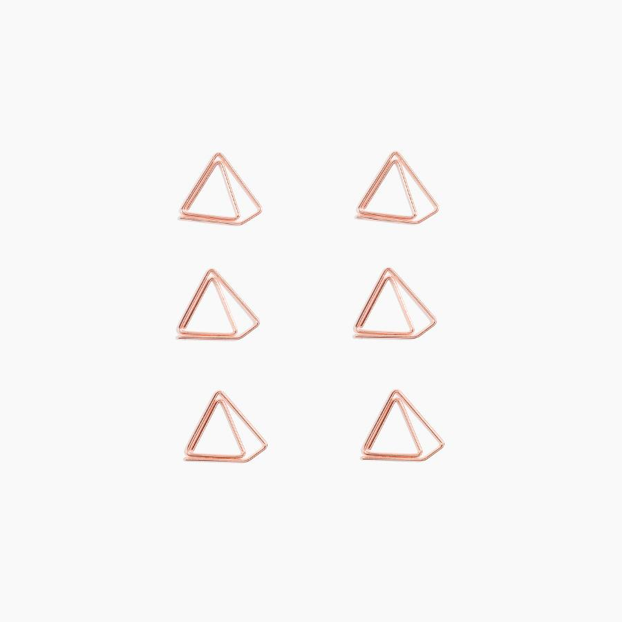Poketo | Poketo Shape Paper Clips - Copper Pyramid | Gift - Paper Clips | Phoenix General Store