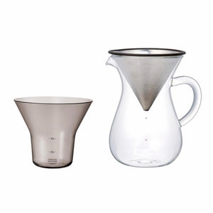 Kinto | Kinto Coffee Carafe w/ Steel Filter - 4 Cups | Home Decor - Coffee Brewer | Phoenix General Store