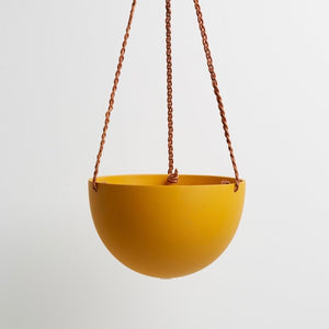 Capra Designs Block Color Dome Hanging Planter - Golden