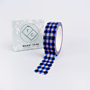 The Completist Washi Tape - Blue Check