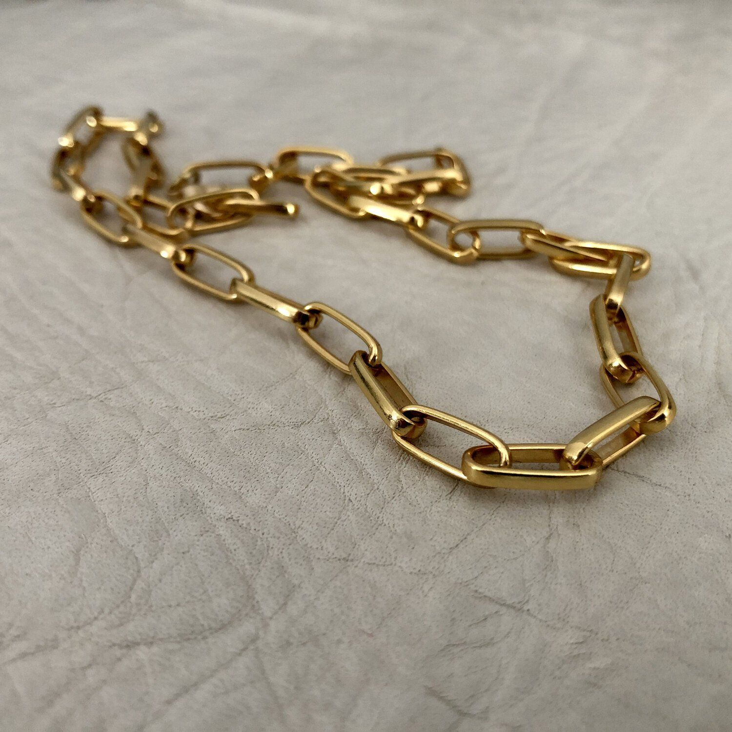 Heliotrope Chain Necklace - Gold Plate