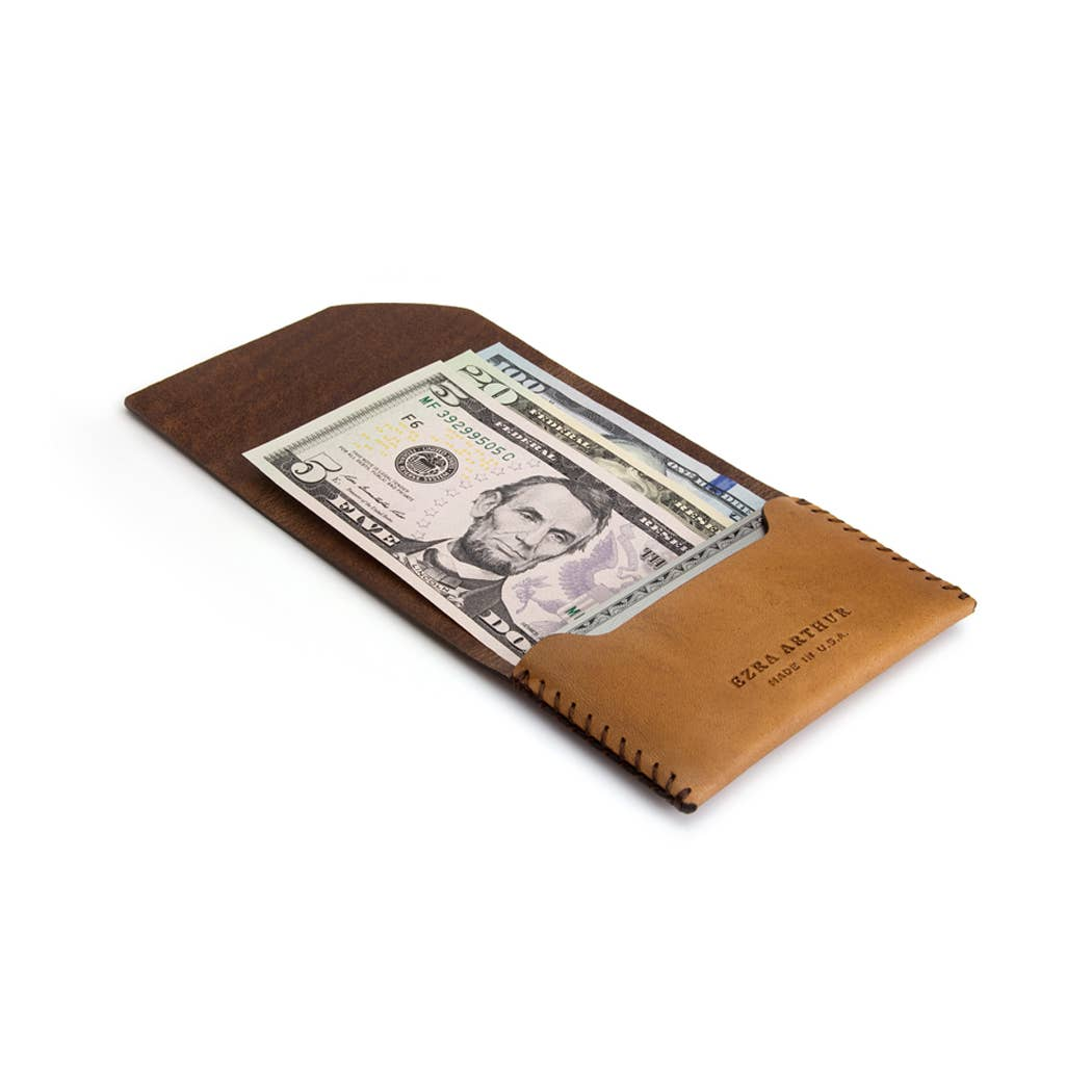Ezra Arthur | Ezra Arthur Deluxe Cash Fold - Whiskey | Men's Accessories - Wallets | Phoenix General Store