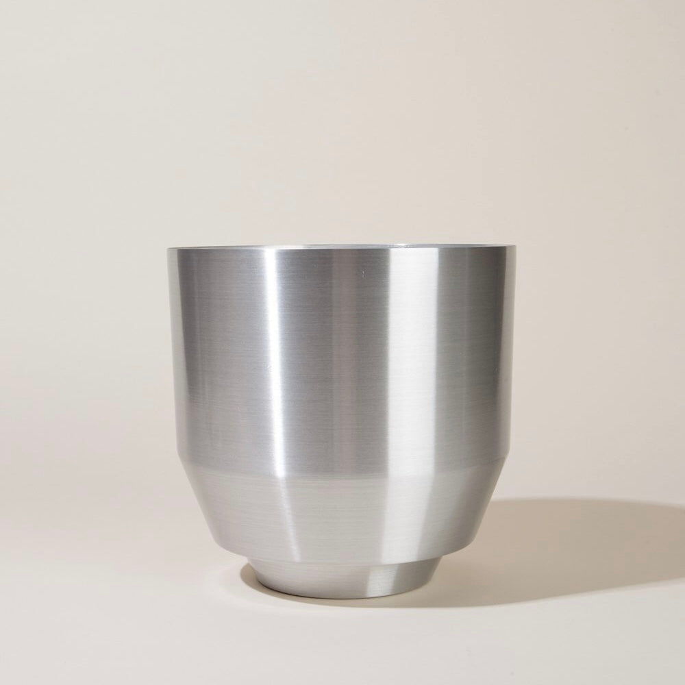 "Yield 8"" Spun Planter - Aluminum - Phoenix General"