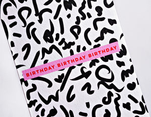 The Completist | The Completist Greeting Card - Birthday Birthday Birthday | Gift - Greeting Cards | Phoenix General Store