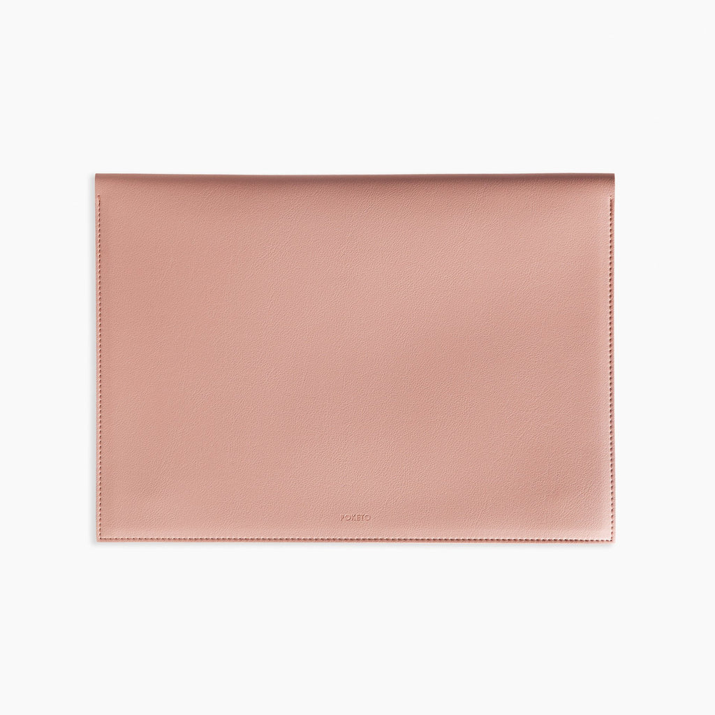 "Poketo 13"" Vegan Leather Folio - Blush"