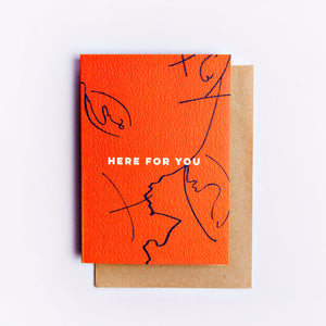 The Completist Greeting Card - Here For You