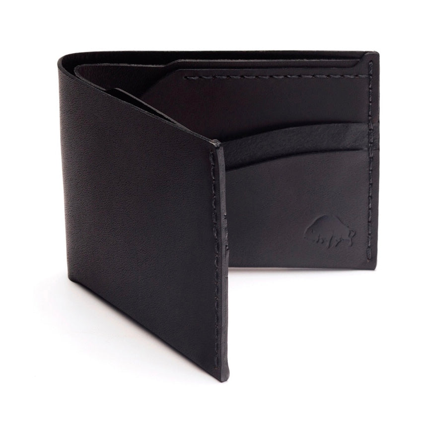Ezra Arthur | Ezra Arthur No. 6 Wallet - Jet Black | Men's Accessories - Wallets | Phoenix General Store
