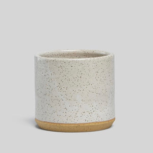 "Norden 5"" Planter - White Speckle"