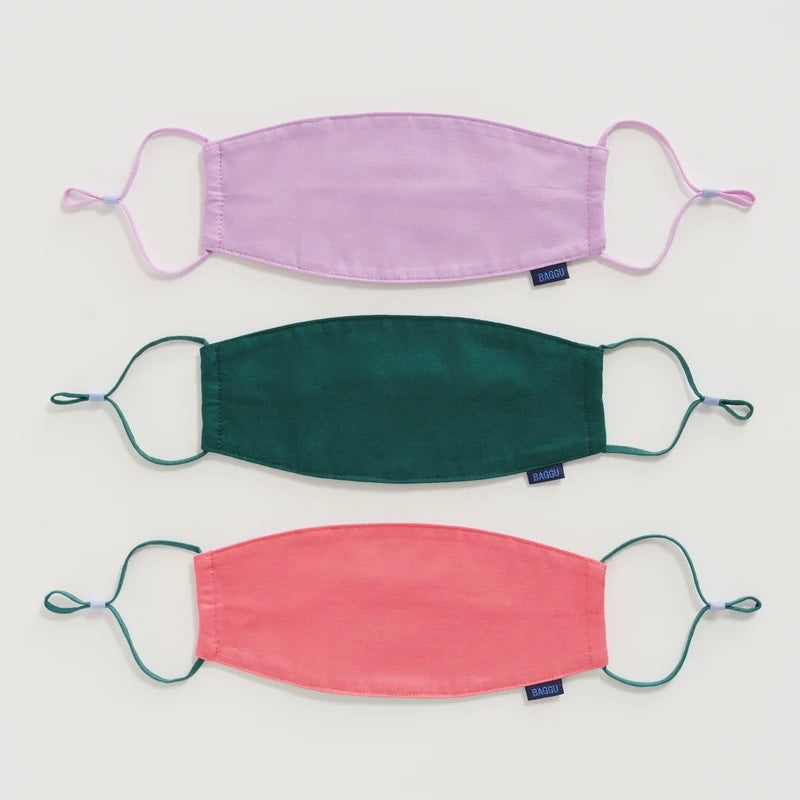 Baggu Fabric Ear Loop Mask Set - Watermelon