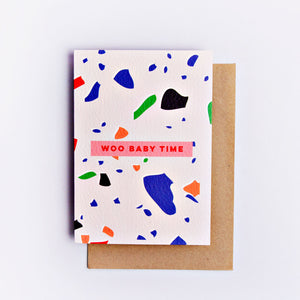 The Completist | The Completist Greeting Card - Woo Baby Time | Gift - Greeting Cards | Phoenix General Store