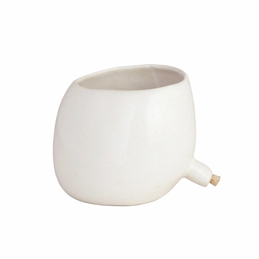 Angus & Celeste Spouted Planter - White