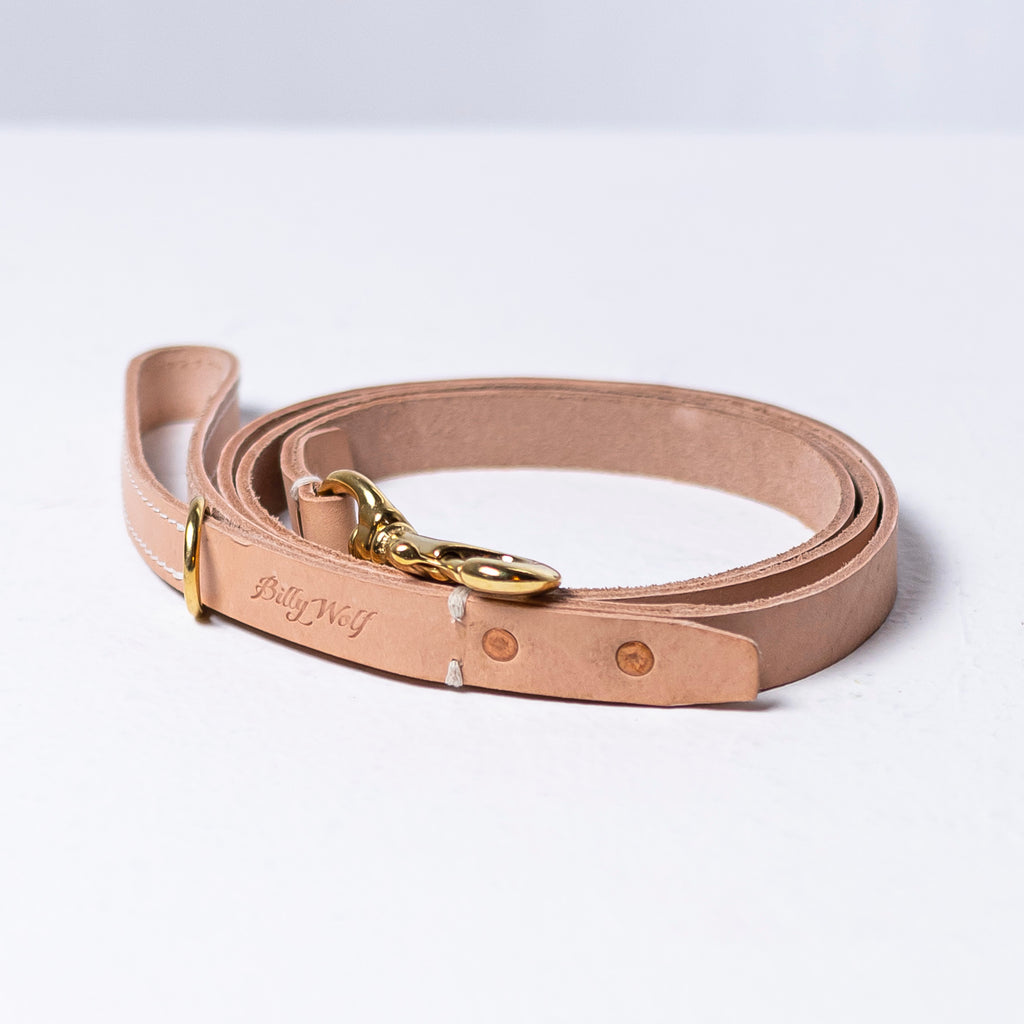 Billy Wolf Leather Leash - Natural - Phoenix General