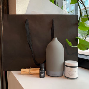 Phoenix General | PHXHUG | Spa Day at Home | Vitruvi Diffuser, Essential Oil, Charcoal Mask, & Palo Santo | Gift - Package Deal | Phoenix General Store