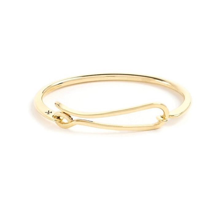 Studebaker Metals Hook Bracelet - Brass Polished