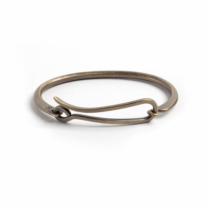 Studebaker Metals Hook Bracelet - Brass Work Patina