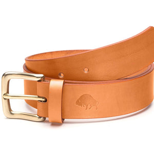 Ezra Arthur No. 1 Belt - Golden Tan/Brass