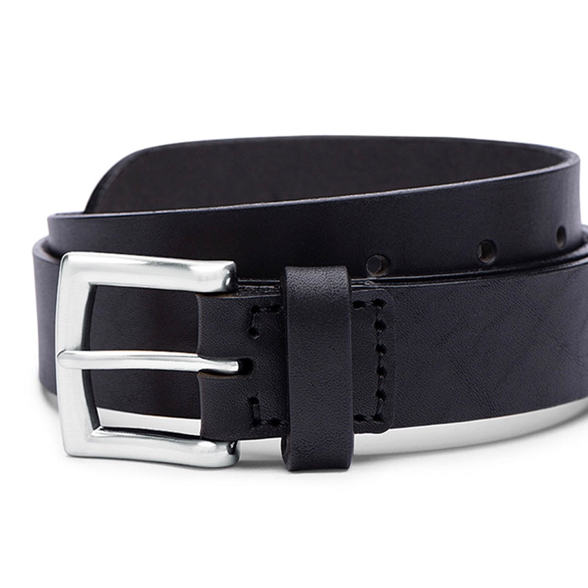 Ezra Arthur | Ezra Arthur No. 3 Belt 30mm - Black/Silver | Men's Accessories - Belts | Phoenix General Store