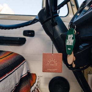 PF Candle Co Car Freshener - Teakwood & Tobacco