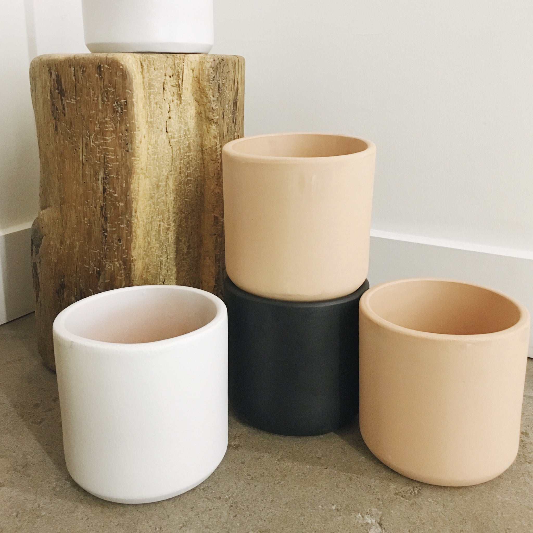 "Phoenix General | 6"" Cylinder Pots 