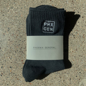 PHXGEN Unisex High Top Socks | Black