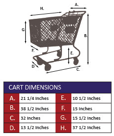 AMP-12 Plastic Shopping Cart With Lower Tray Specifications