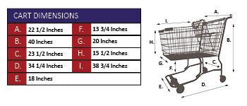 AMW-90VP Wire Shopping Cart Specifications