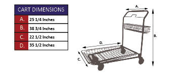 GCW-100 Nesting Garden Center Cart Specifications