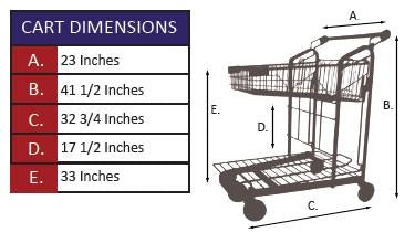 GCC-919 Nesting Garden Center Cart Specifications