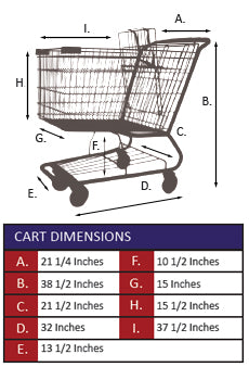 AMW-85 Metal Wire Shopping Cart Specifications