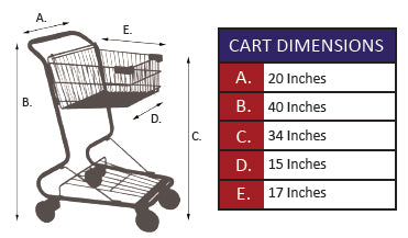 CC-6 The Convenience Cart Metal Wire Shopping Cart Specifications