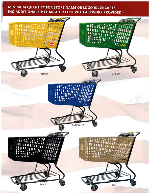 Shopping Cart Plastic Cart Colors