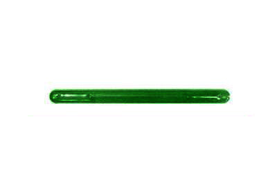 "Tote Cart/United 13 3/4"" long green plastic shopping cart handle with printing"