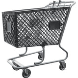 Dark Gray Plastic Shopping Cart Without Lower Tray