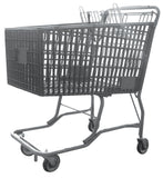 Dark Gray Plastic Shopping Cart With Vermaport Frame For Conveyors