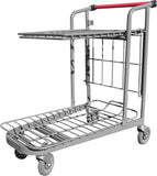 Garden Center Cart With Flat Tray & Red Handle
