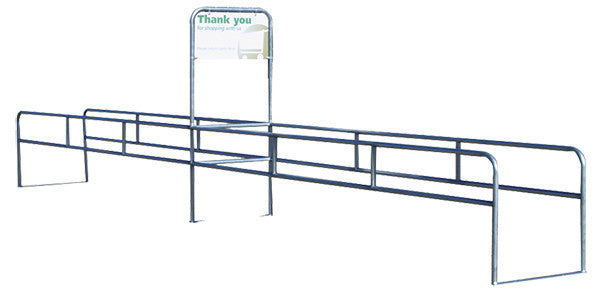CCS-2036 Cart Corral Two-Way Single